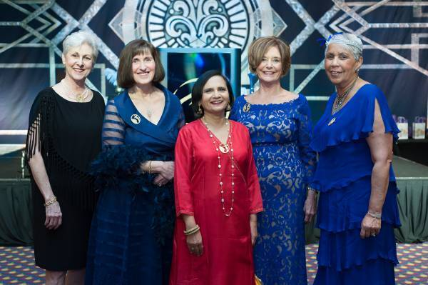 The 2017 Women of Distinction: Right to Left: Carol Heideman, Pam Greenwell, Surekha Kulkarni, Joanne Berryman, Alice Houstono