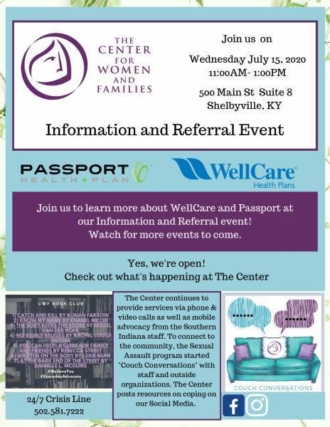 Information and Referral event flyer